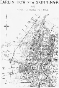 Map on the New Parish 1952