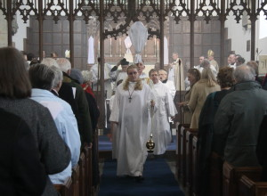 The Procession out of St Leonard's Church.
