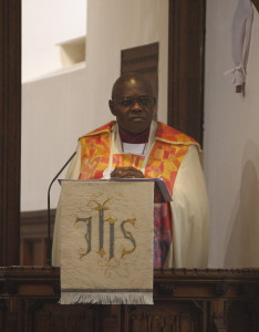 The Archbishop of York delivers his Sermon.
