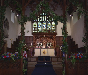 The Rood Screen and Chancel.