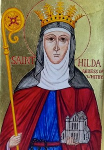 The icon of St Hilda of Whitby, our local saint