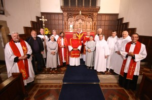 The Clergy, Servers and Organist after the High Mass
