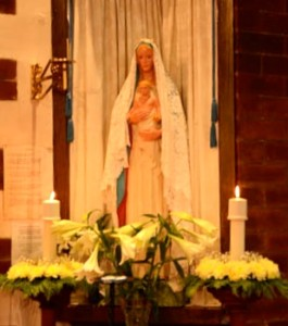 Shrine of Our Lady at St Helen's Carlin How Easter Day 2014