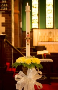 St Helen's Easter Candle Easter Day 2014