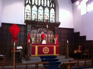 The High Altar of St Leonard's Loftus on Palm Sunday 2014