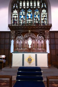 The High Altar of St Leonard's Loftus on Maundy Thursday 2014