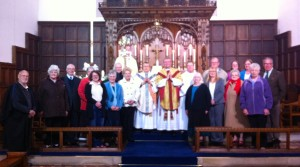 A group photograph following the Easter Vigil Service 2014 at St Leonard's Loftus