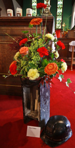One of the beautiful flower arrangements.