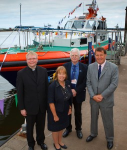 Father Adam Gaunt - Rector of Loftus, Dame Julia Cleverdon DCVO, CBE – Business in the Community, Colin Worswick - Mission to Seafarers and David Robinson – CEO PD Ports