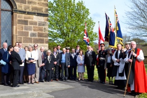 A group photograph with HM Lord Lieutenant of North Yorkshire