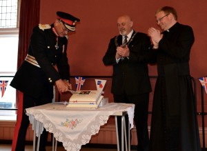 HM Lord Lieutenant cuts the Celebration Cake