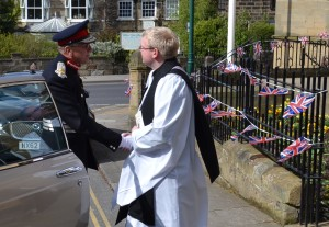 The Rector welcomes the Lord Lieutenant of North Yorkshire to Saint Leonard's