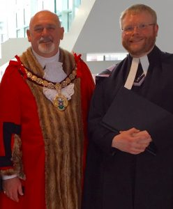 The Mayor of Redcar & Cleveland and his Chaplain and Rector of Loftus, Carlin How & Skinningrove