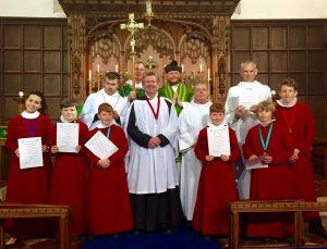 Choir members photographed in Saint Leonard's Church Loftus September 2016