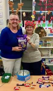 Stall holders in the Christmas Spirit at Whitecliffe Primary Academy in Carlin How